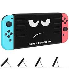 FINTIE Étui Housse pour Nintendo Switch - [Multiple Secure Angles] Coque avec magnétique Kickstand [Installation/Retrait Rapide] [Facile pour Le Mode TV] pour Nintendo Switch 2017, Don't Touch