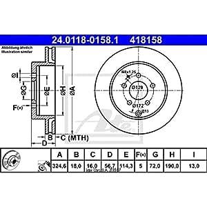 ATE 24.0118–0158.1disque de frein Rotors