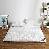 WENZHEN Doppelfaltmatratze,Tatami Futon Matratze Topper Bett Roll Up Traditionelle Japanische Für Zu Hause Apartment Studentenwohnheim @ White_120X200Cm (47X79Inch)