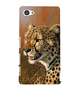 Leopard in Painting 3D Hard Polycarbonate Designer Back Case Cover for Sony Xperia Z5 Compact :: Sony Xperia Z5 Mini