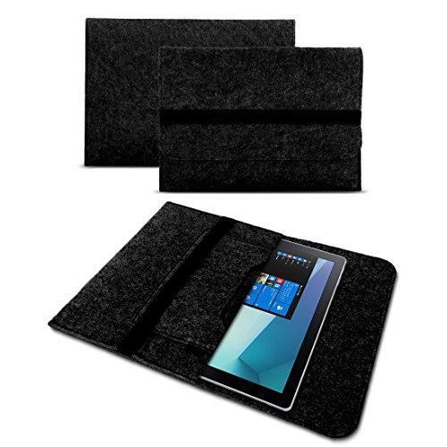 UC-Express Sleeve Hülle für Captiva Pad 12 Tablet Tasche Filz Schutzhülle Cover Case Grau, Farbe:Dunkel Grau