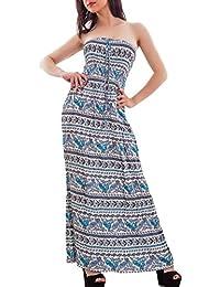 294943710b793f Toocool - Abito donna lungo bandeau fantasia vestito estivo copricostume  nuovo 313