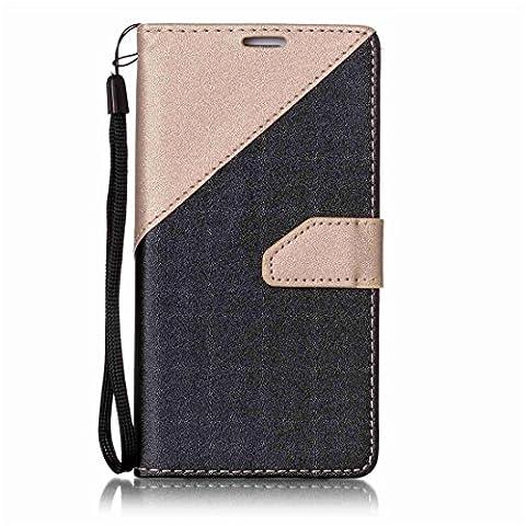 Nancen Samsung Galaxy S6 / SM-G920 (5,1 Zoll) Hülle PU Leder Tasche Schutzhülle Flip Case Wallet für, Magnetverschluss Standfunktion Brieftasche und Karten Slot , Taschen &