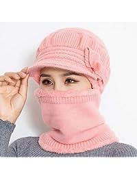 Cou Féminin Plus Chaud Automne Hiver Bonnets Chapeaux Masque Femmes Chapeau  d hiver Tricoté Chapeaux bc171f0a74b