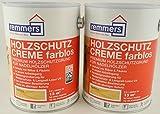 Spar-Set 2x Remmers Aidol Holzschutz-Creme farblos 2,5 l