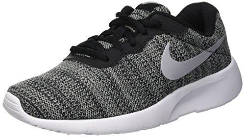 Nike Jungen Kinder Sneaker Tanjun Boys (GS) Laufschuhe, Schwarz (Black/Wolf Grey-White 019), 37.5 EU (Black Nike Kids Free Schuhe)