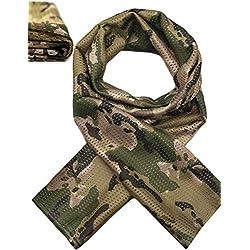 Outdoor Saxx® - Foulard de Cou Multifonctionnel Foulard de tête écharpe Bandeau   Camouflage Protection Outdoor Chasse Pêche Military   Tissu en Maille Filet Camouflage