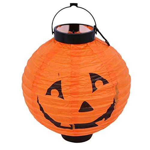 Butterme Halloween Dekorationen LED Kürbisse Laterne Jack-Skelett-Spinnen-Schläger Spuk für Innen / Außen, Feiertag, Festival, Partei-Dekor (Orange)