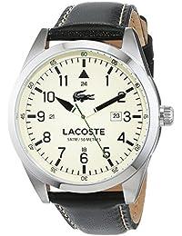 Lacoste Herren-Armbanduhr Analog Quarz Leder 2010782