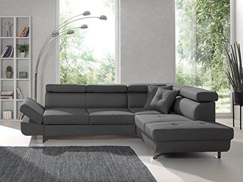 Bestmobilier - Lisbona - Canapé d'angle Droit Convertible - L 252 x P 190cm