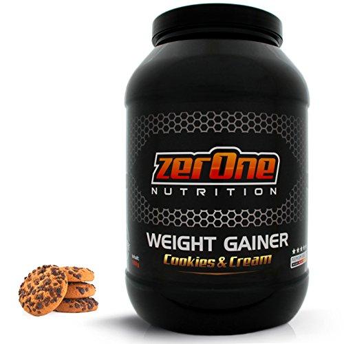 Weight Gainer Hochdosiertes Pulver | Hochwertige Kohlenhydrate Proteine | Masseaufbau | Deutsche Premium Qualität | Vegan | Hafer-Gerste Cookies Cream | Vegan 1500g (Hohe Qualität-protein-pulver)