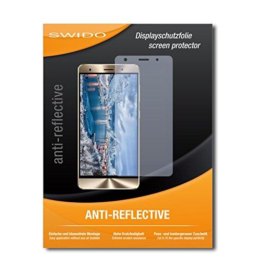 SWIDO Schutzfolie für Asus Zenfone 3 Deluxe ZS550KL [2 Stück] Anti-Reflex MATT Entspiegelnd, Hoher Härtegrad, Schutz vor Kratzer/Bildschirmschutz, Bildschirmschutzfolie, Panzerglas-Folie