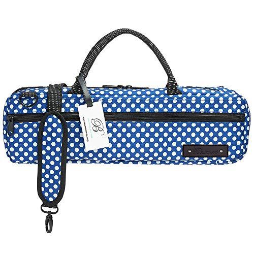 Beaumont BFBC-BP Designer Etui für Querflötenkoffer mit C-Fuß - Blue Polka Dot