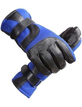 QKR&bellissimi guanti Uomini guanti di pelle inverno A prova di vento Freddo Tenere caldo più velluto ispessimento...