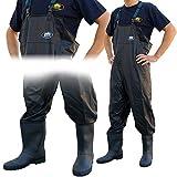 Lineaeffe NOIR TOUS TEMPS PVC imperméable carpe mer WADERS Cuissardes de pêche/Bottes en caoutchouc en tailles 7 8 9 10 11 & 12 - UK Size 12 - EU Size 46