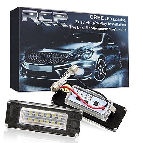 Win d'erreur gratuit LED licence lampe de plaque d'immatriculation assemblée Blanc froid lamps ampoule pour BMW Mini Cooper R56R57R58R59, Lot de 2