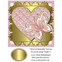Corazón y mariposa varias ocasiones grandes Topper 1por Anna Babajanyan