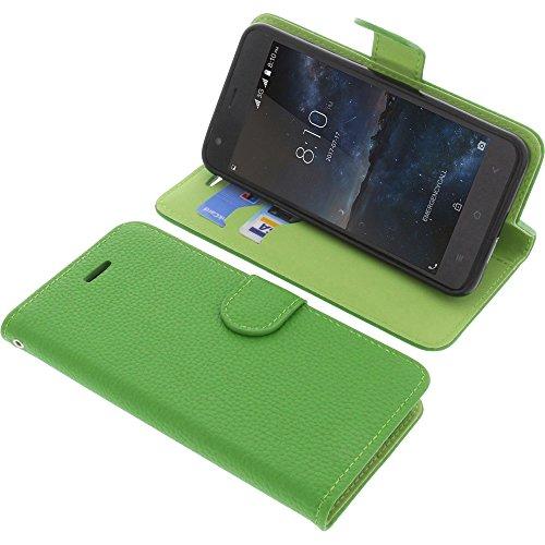 foto-kontor Tasche für Blackview A7 Book Style grün Schutz Hülle Buch
