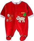 I Luve Santa Strampler Baby Nicki Overall Stramplerhose SAMT Weihnachten Rot (0/3M. (56/62))