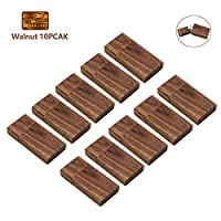 16GB Wood Flash Drive 10 Pack, USB Drives 16 GB 10 PCS Wooden Memory Stick JBOS Thumb Drives Gig Stick USB2.0 Pen Drive for Fold Digital Date Storage, Zip Drive, Jump Drive, USB Stick (Walnut)