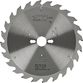 AKE 91472502430Circular Saw Blade HW/Diameter 250x 2.8x 30mm with 24Teeth Spare Tooth Front Positive