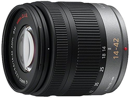 Panasonic Lumix H-FS014042E - Objetivo para cuatro tercios (distancia focal 14-42 mm, apertura f/3.5, estabilizador, diámetro: 52 mm) negro