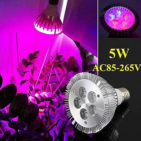 Bluelover 5W E27 3 rosso 2 Blue Garden pianta crescere sviluppo del semenzale pianta serra LED lampadina luce