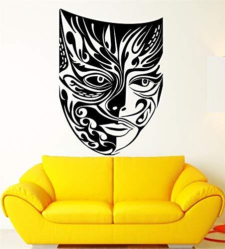 Wandaufkleber Kinderzimmer wandaufkleber 3d Maskerade-Masken-Theater-Kunst-Muster, das Masken-Stammes- Monster-Zeichen für Jungen-Raum ()