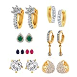 Zeneme Combo of Trendy American Diamond ...