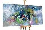 KunstLoft XXL Gemälde 'Aroma of Dawn' 200x100cm   Original handgemalte Bilder   Abstrakt Grün Grau   Leinwand-Bild Ölgemälde Einteilig groß   Modernes Kunst Ölbild