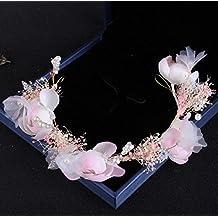 Olici MDRW-Tocado Nupcial De La Horquilla Del Salón De Bodas Manual encajes flores Perla