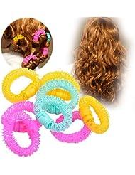 CkeyiN 8Pcs Cercle bigoudis en plastique - Artefact de Cheveux bouclés Bang - outil de Cheveux bouclés(16cm x 15mm)