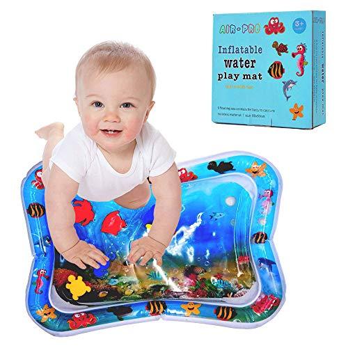 DB Aufblasbare Wassermatte, Baby Kleinkind Wasser Padded Pad Prostata Wasserkissen, Perfektes Aktivitäts Spielzentrum für Spaß Bauchzeit, Stimulieren Baby Wachstum