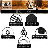 Hundegeschirr Step-In aus Premium-Nylon verschiedene Farben und Groessen XXS, XS, S, M, L, XL: Brustgeschirr, Laufgeschirr, Fuehrgeschirr, verstellbar, Zugentlastung, stabil, bequem, weich, farbig, fuer große und kleine Hund (Leine und Halsband separat erhaeltlich) (Farbe Schwarz, Größe XS – 1,0 x 32-44 cm) - 3