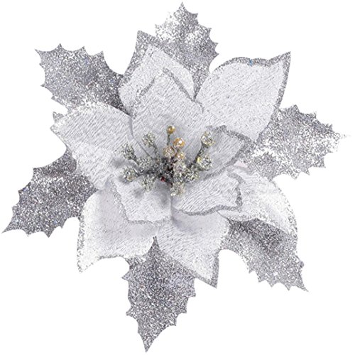 SuperSU-Home Weihnachtsbaum Dekorationen Künstliche Blumen,SuperSU Glitzer Weihnachtsstern Halloween -