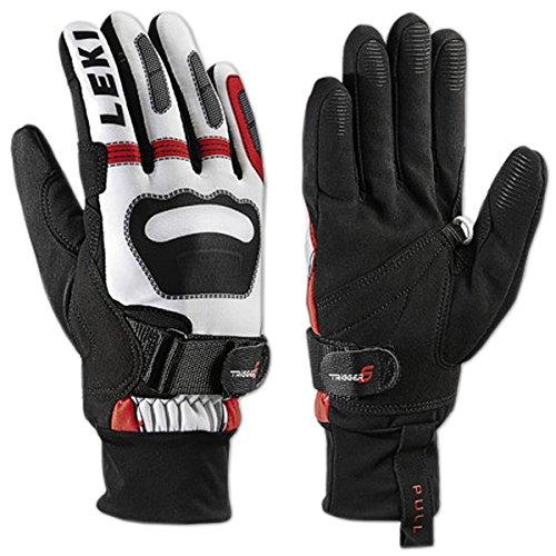 LEKI Ski Handschuhe Langlauf Shark Worldcup Edition (weiß-rot-schwarz, 11.0)