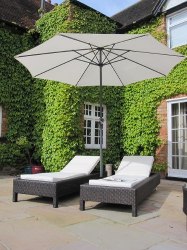 Pair of bali all weather grey rattan garden furniture for Pool and garden show