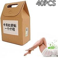 KOBWA 40 Parches Peso Perder Ombligo Pasta, Medicina Tradicional China Ombligo Etiqueta Quema de Grasas Patch, Quemador de Grasa y Pérdida de Peso Rápido