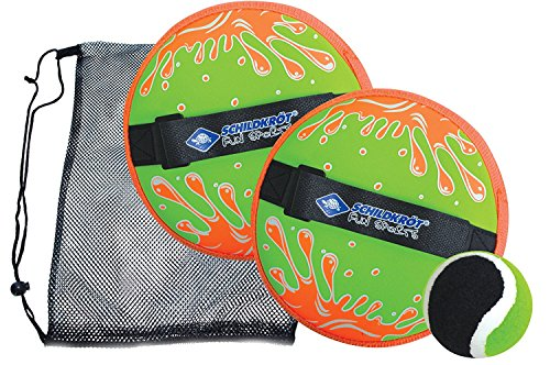 Schildkroet Funsports 970222 Juego de Pelota Adhesiva, Unisex Niños, Verde/Naranja, M