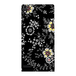 Enticing Classic Flower Back Case Cover for Ascend P6