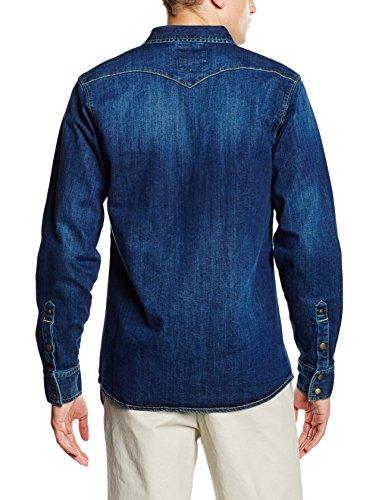 Dickies Herren Freizeithemd Dallas Blau (Stonewash STW)