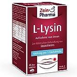 ZeinPharma L-Lysin 1000 mg 45 Kautabletten (2 Wochen Vorrat) diätetische Behandlung gegen Lippenherpes Hergestellt in Deutschland, 157 g