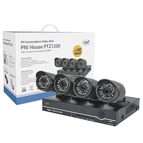 Juego-de-videovigilancia-AHD-Analog-alta-definicin-PNI-Pilka-House-ptz1200-Full-HD-1080p--NVR-y-4-exterior-supervisin-cmaras
