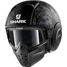 HE2903EKAAM - Shark Drak Sanctus Mat Open Face Motorcycle Helmet M Matt Black Anthracite (KAA)