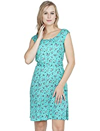 75345e14eb PATRORNA Women s Kimono Midi Dresses with Pockets in Multi-Coloured  (10PA021GRPR)