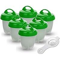 Cuociuova   Antiaderente Egg Cooker Boiler  BPA Free Approvato dalla FDA Lavabile in Lavastoviglie  con Separatore Tuorlo d  39  Uovo  6 Portauova   Verde