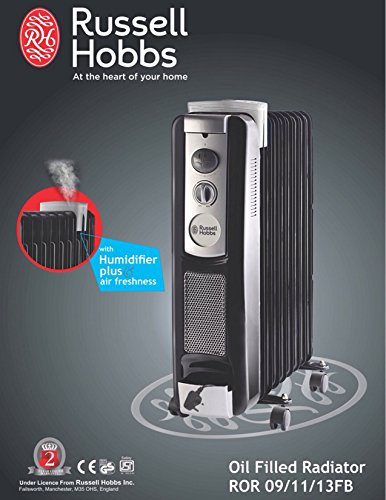 Best Oil Filled Room Heaters for Winters - Russell Hobbs 11 Fin Oil Heater with Fan Humidifier