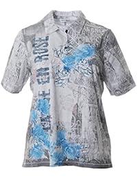 Serena Malin Damen Poloshirt Polohemd Kurzarm große Größen T-Shirt  Baumwolle Vintage Aufdruck 172cb2524b