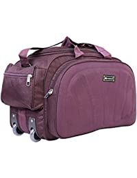 62df5638a N Choice Unisex Purple Polyester Waterproof Lightweight Luggage Travel  Duffel Bag with 2 Wheels