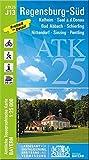 ATK25-J13 Regensburg-Süd (Amtliche Topographische Karte 1:25000): Kelheim, Saal a.d.Donau, Bad Abbach, Schierling, Nittendorf, Sinzing, Pentling (ATK25 Amtliche Topographische Karte 1:25000 Bayern) -